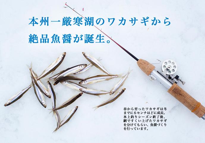 本州一厳寒湖のワカサギから魚醤が誕生